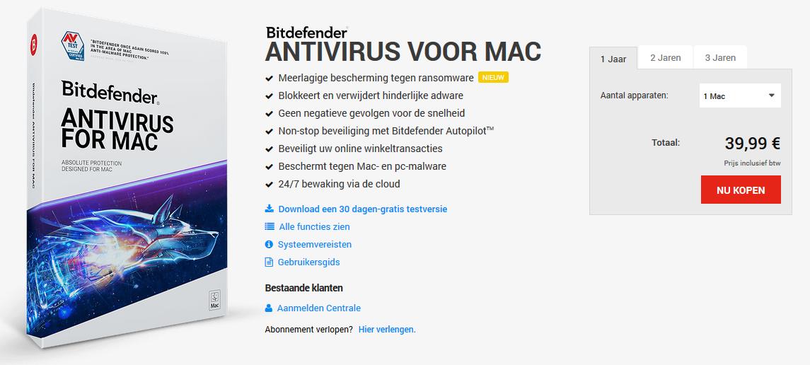 Bitdefender Antivirus Voor Mac 2018
